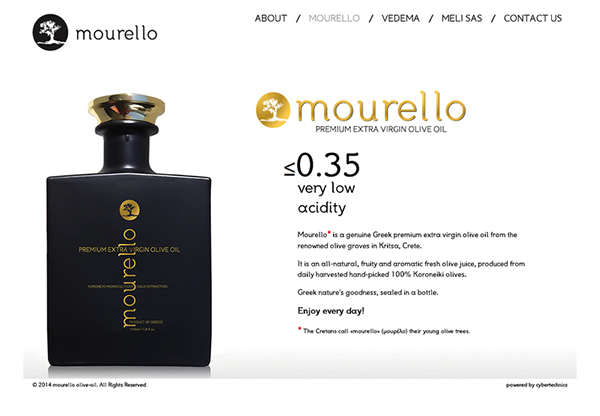mourello - olive oil website