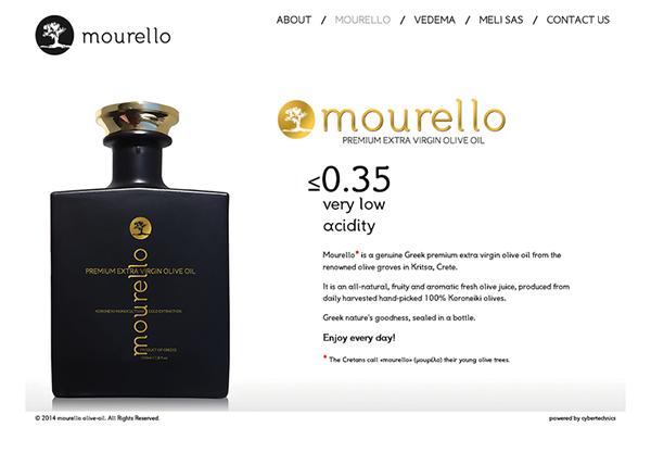 mourello - olive oil website